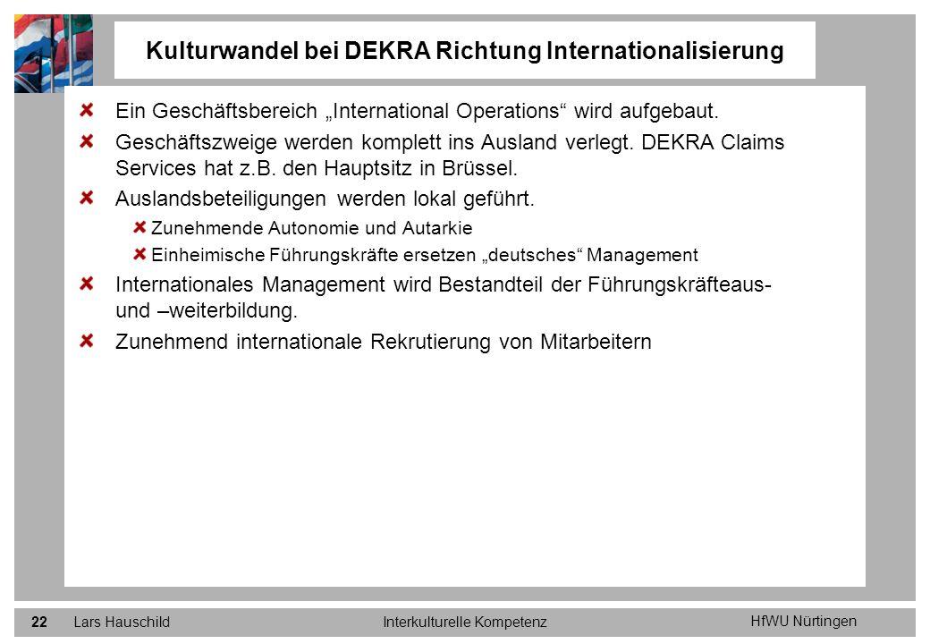 Kulturwandel bei DEKRA Richtung Internationalisierung