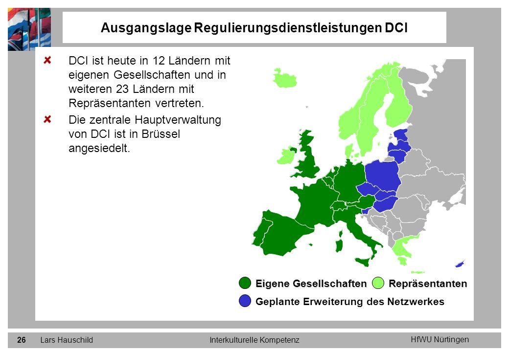 Ausgangslage Regulierungsdienstleistungen DCI
