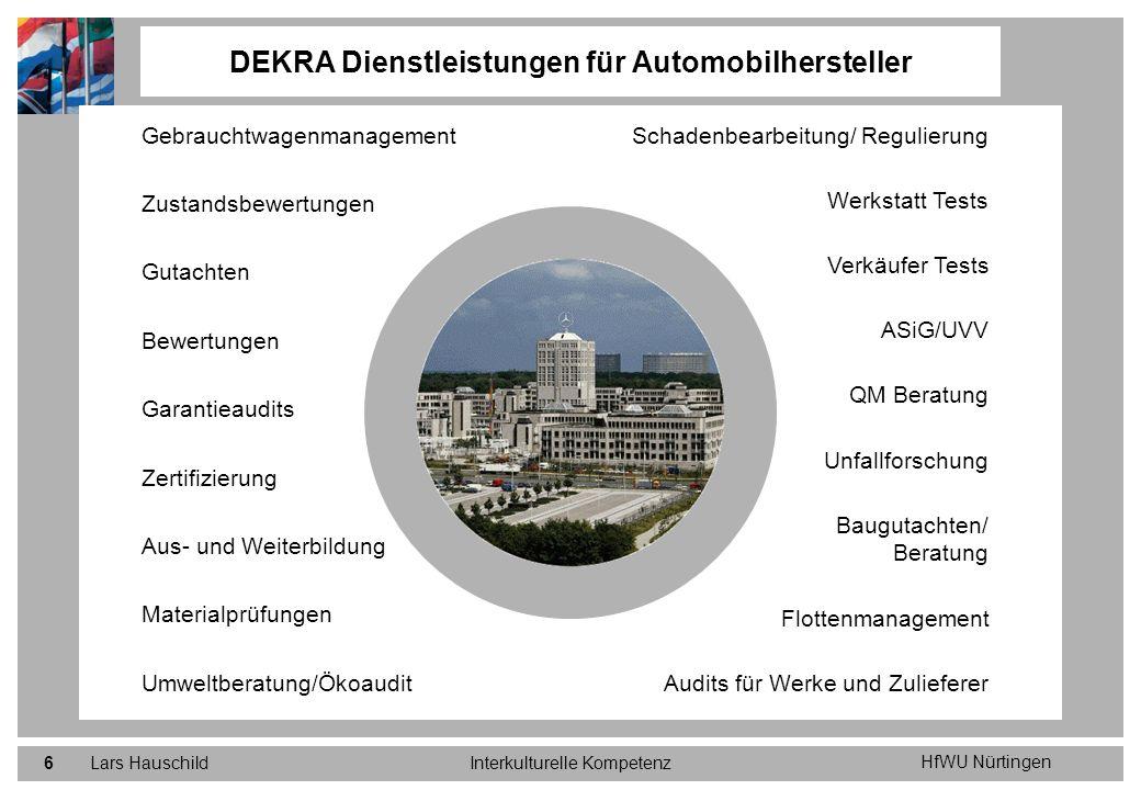 DEKRA Dienstleistungen für Automobilhersteller