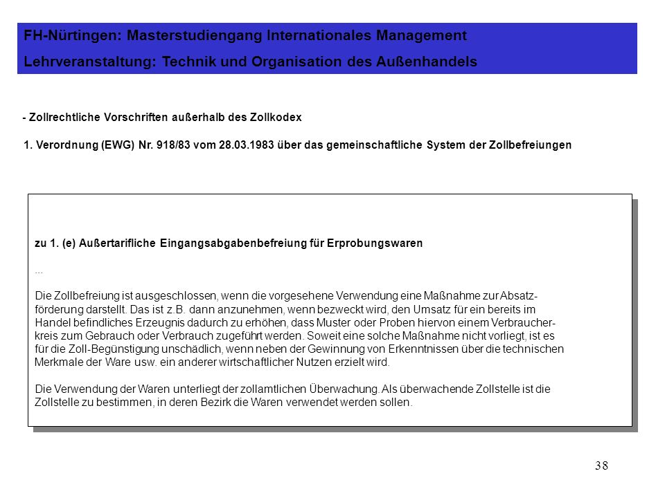 FH-Nürtingen: Masterstudiengang Internationales Management