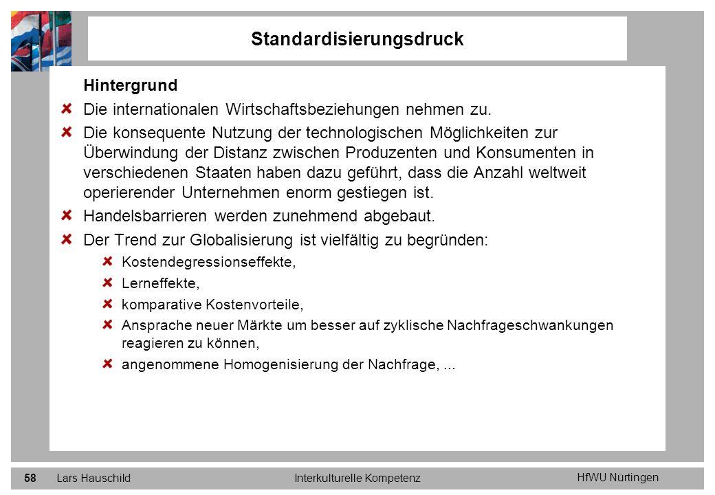 Standardisierungsdruck
