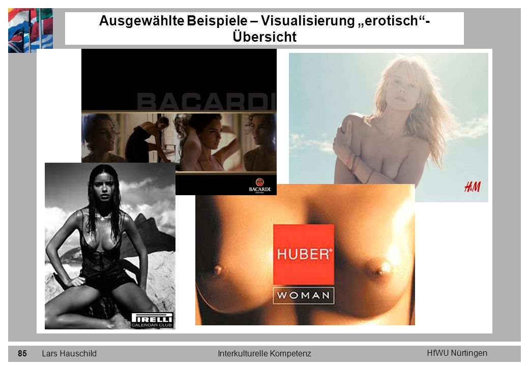 """Ausgewählte Beispiele – Visualisierung """"erotisch - Übersicht"""