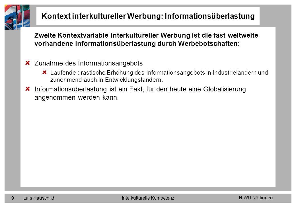 Kontext interkultureller Werbung: Informationsüberlastung
