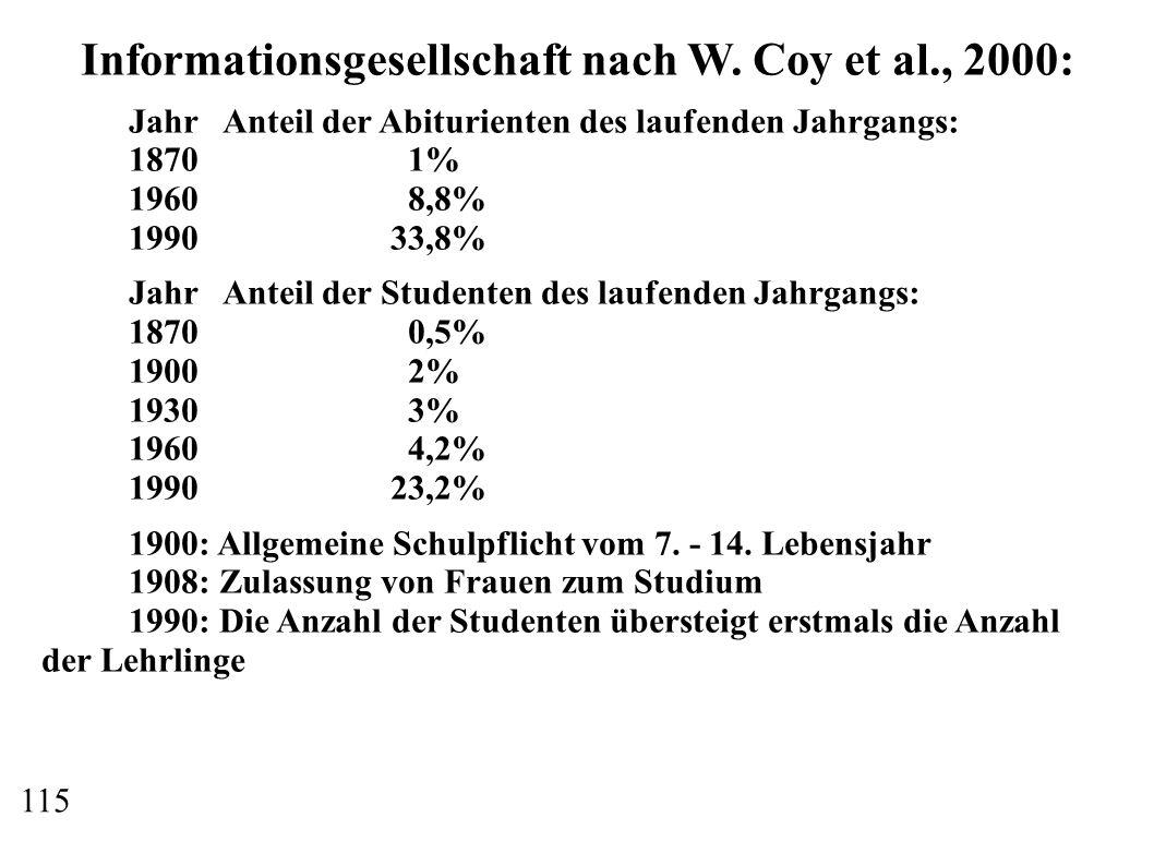 Informationsgesellschaft nach W. Coy et al., 2000: