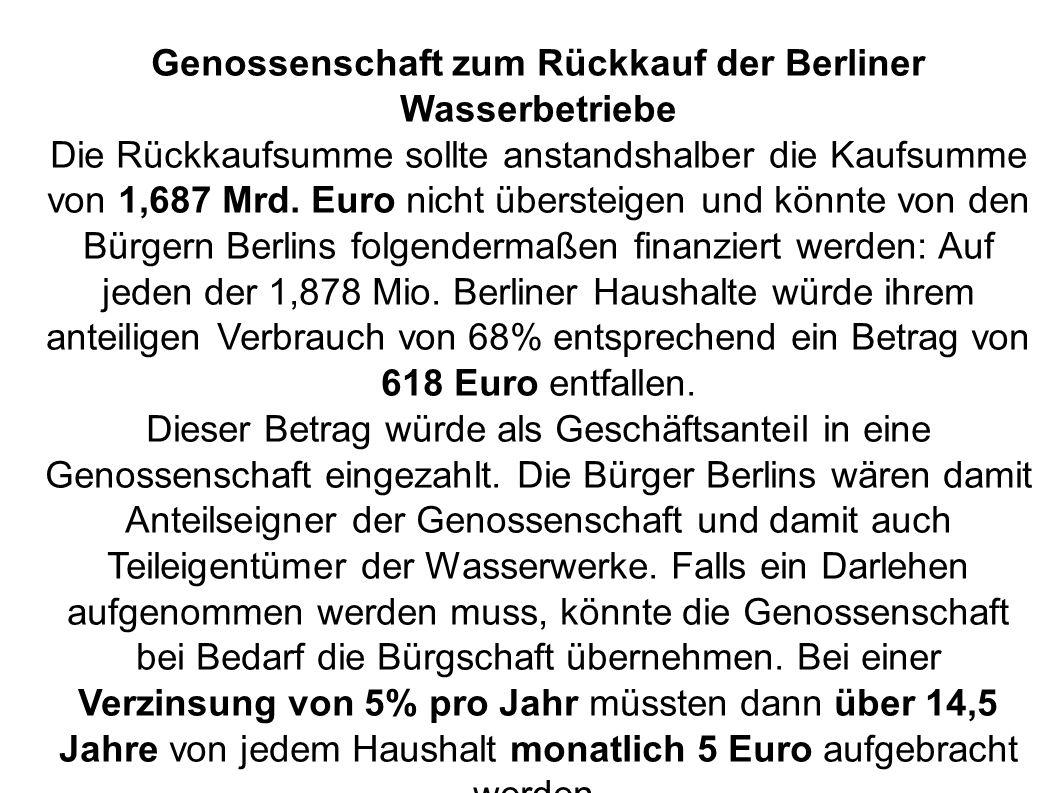 Genossenschaft zum Rückkauf der Berliner Wasserbetriebe