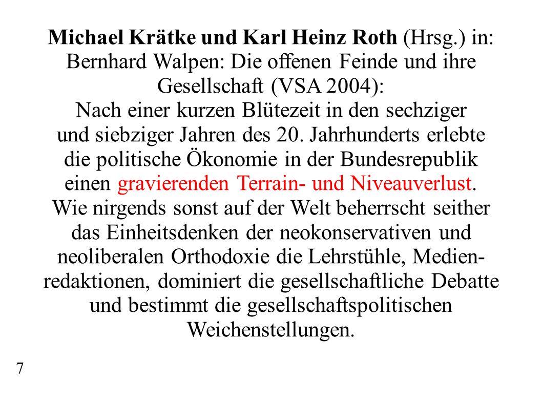 Michael Krätke und Karl Heinz Roth (Hrsg.) in: