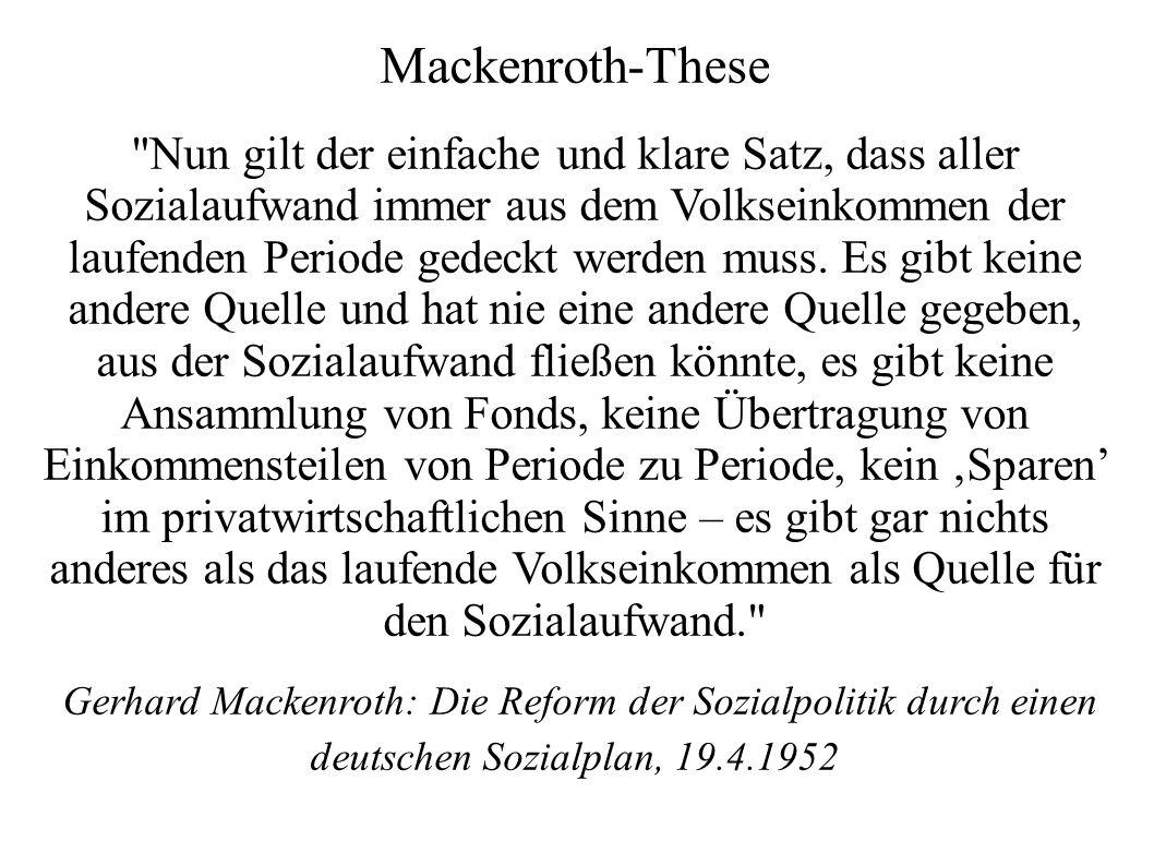 Mackenroth-These