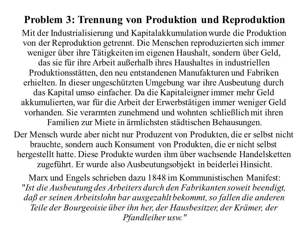Problem 3: Trennung von Produktion und Reproduktion