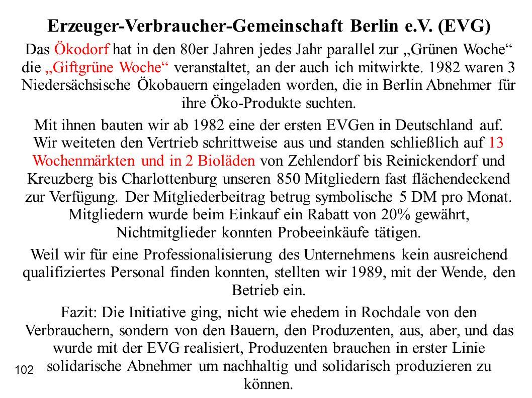 Erzeuger-Verbraucher-Gemeinschaft Berlin e.V. (EVG)