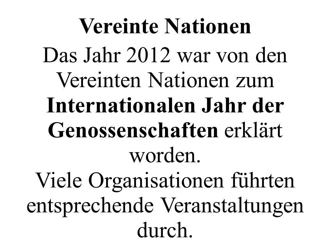 Das Jahr 2012 war von den Vereinten Nationen zum