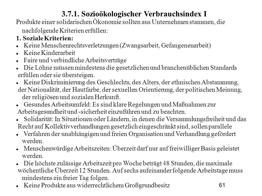 3.7.1. Sozioökologischer Verbrauchsindex I