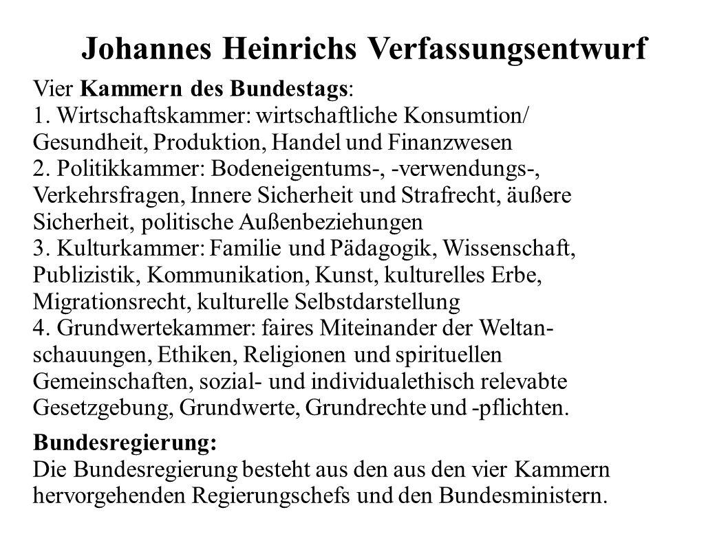 Johannes Heinrichs Verfassungsentwurf