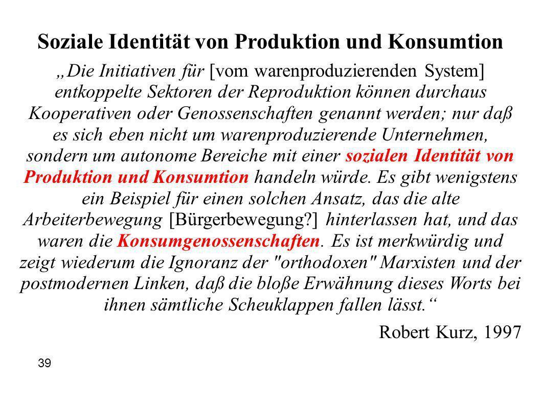 Soziale Identität von Produktion und Konsumtion