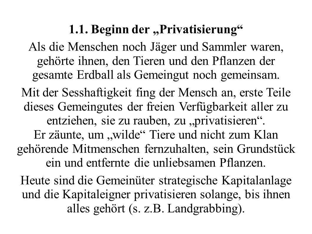 "1.1. Beginn der ""Privatisierung"
