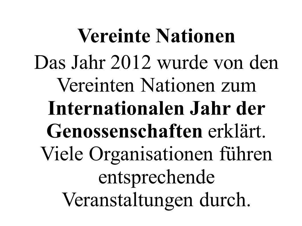 Das Jahr 2012 wurde von den Vereinten Nationen zum