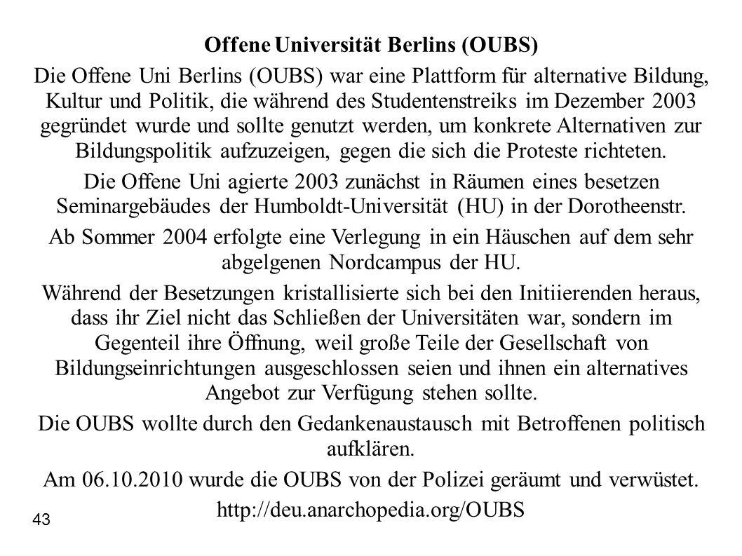 Offene Universität Berlins (OUBS)