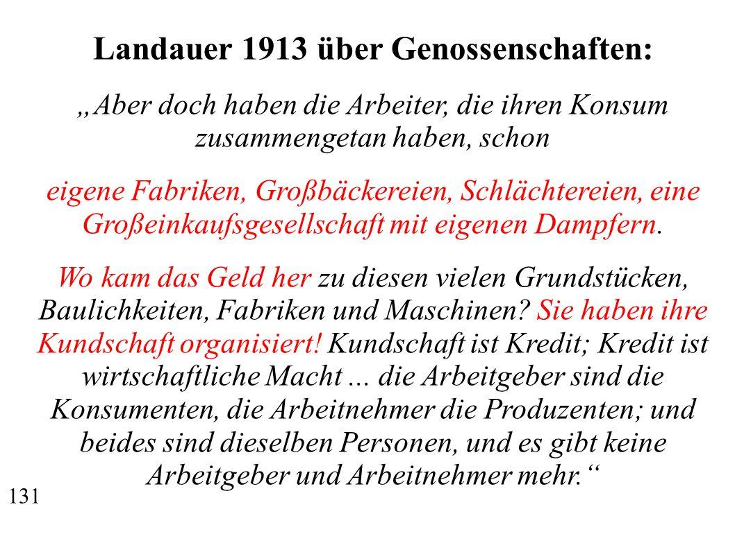 Landauer 1913 über Genossenschaften: