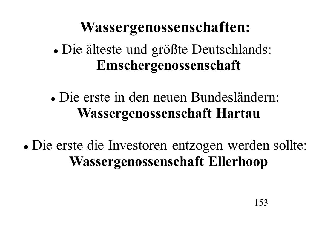 Wassergenossenschaften: