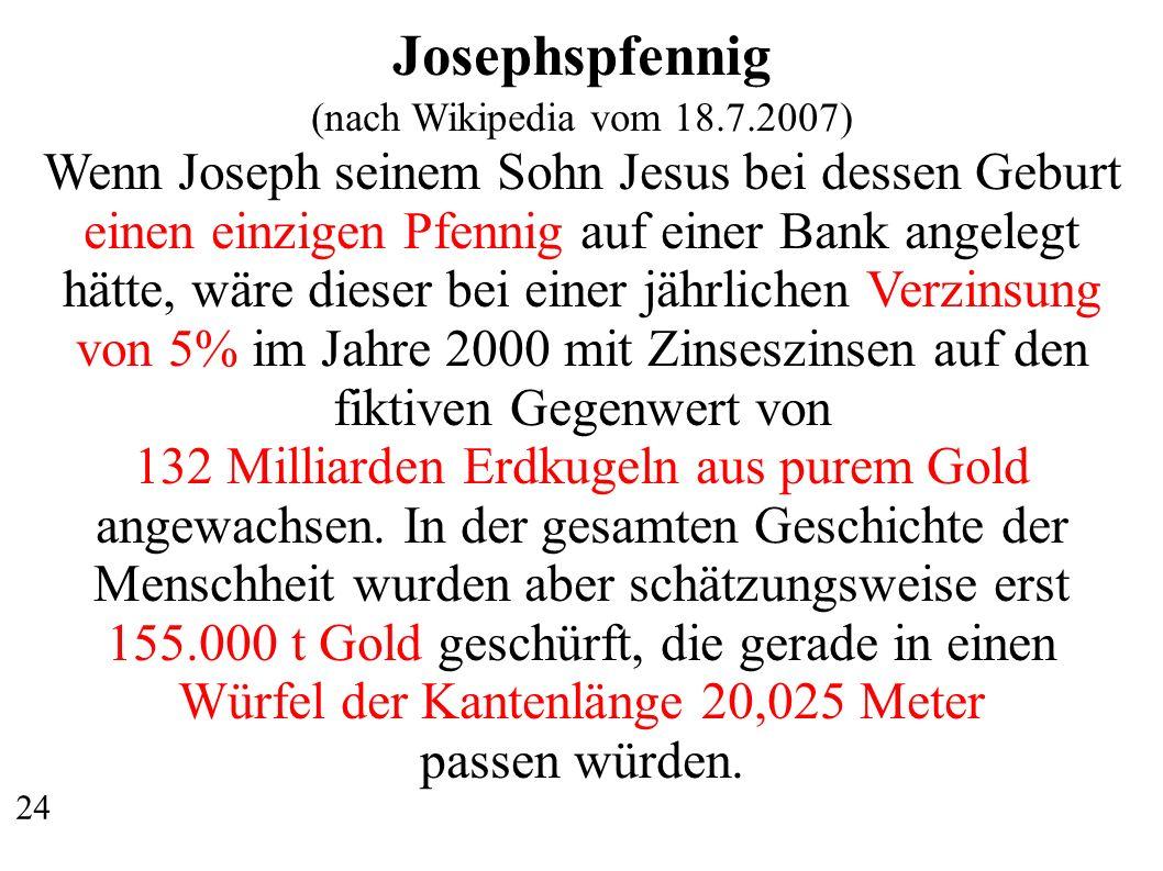 Josephspfennig (nach Wikipedia vom 18.7.2007)