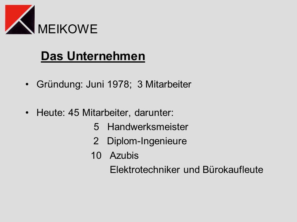Das Unternehmen Gründung: Juni 1978; 3 Mitarbeiter