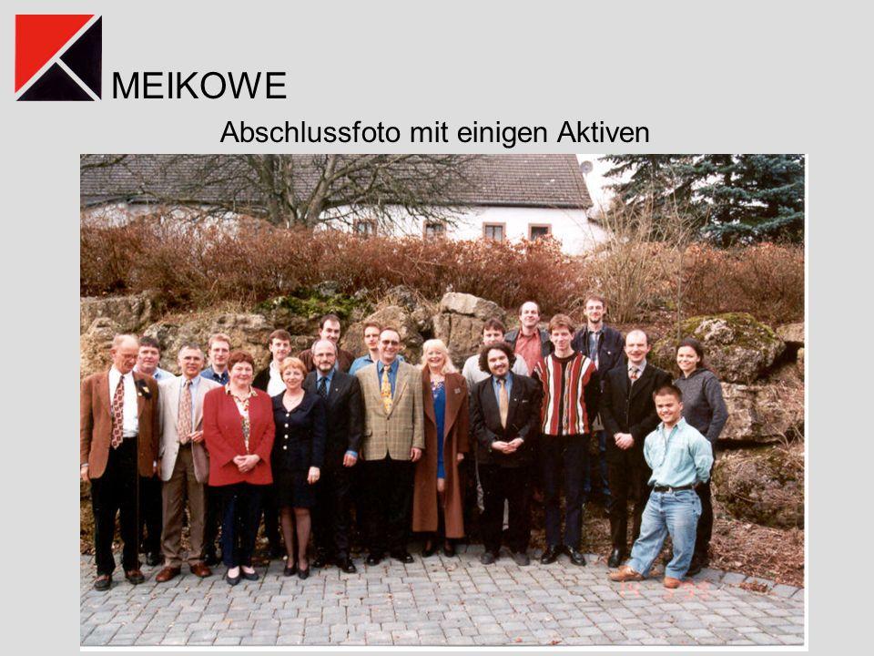Abschlussfoto mit einigen Aktiven