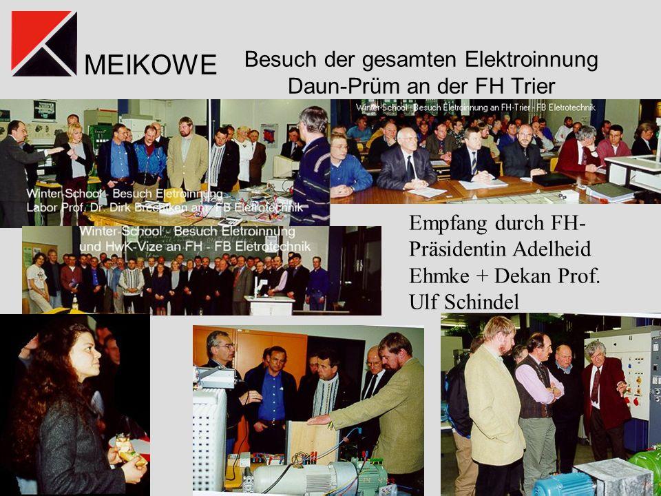 Besuch der gesamten Elektroinnung Daun-Prüm an der FH Trier