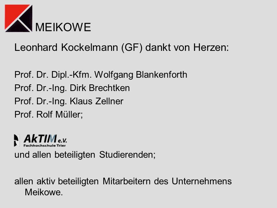 Leonhard Kockelmann (GF) dankt von Herzen: