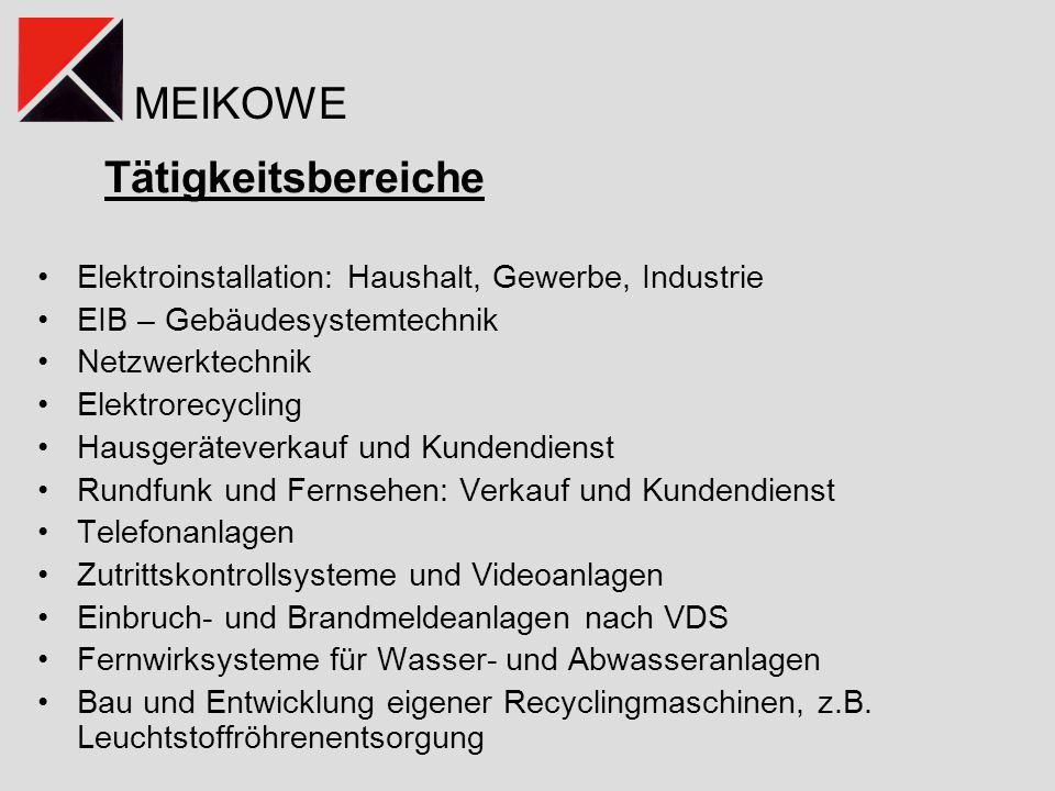 Tätigkeitsbereiche Elektroinstallation: Haushalt, Gewerbe, Industrie