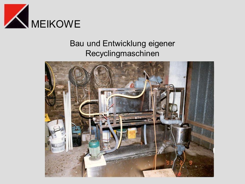 Bau und Entwicklung eigener Recyclingmaschinen