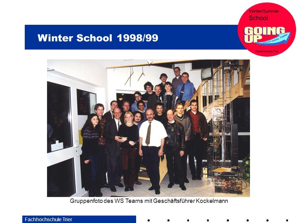 Gruppenfoto des WS Teams mit Geschäftsführer Kockelmann