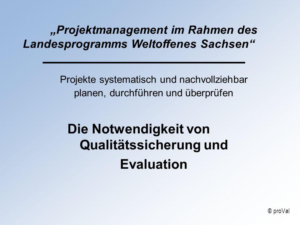 Qualitätssicherung und Evaluation