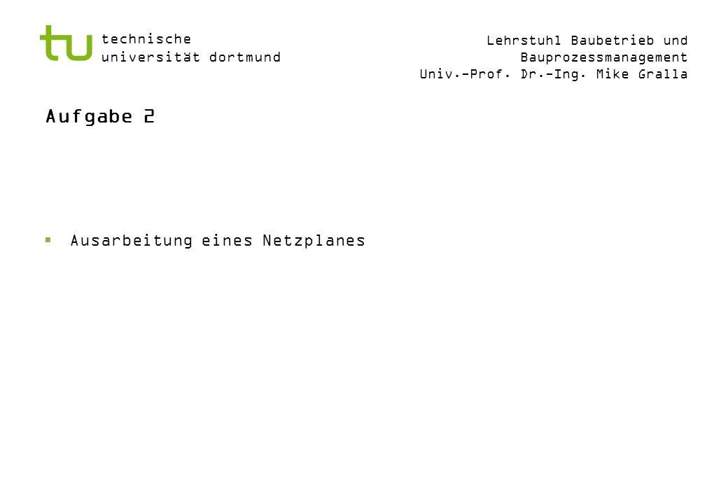 Aufgabe 2 Ausarbeitung eines Netzplanes