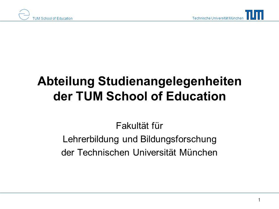 Abteilung Studienangelegenheiten der TUM School of Education