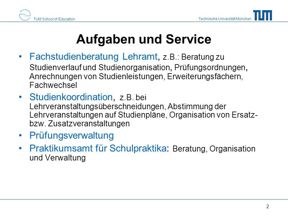 Aufgaben und Service