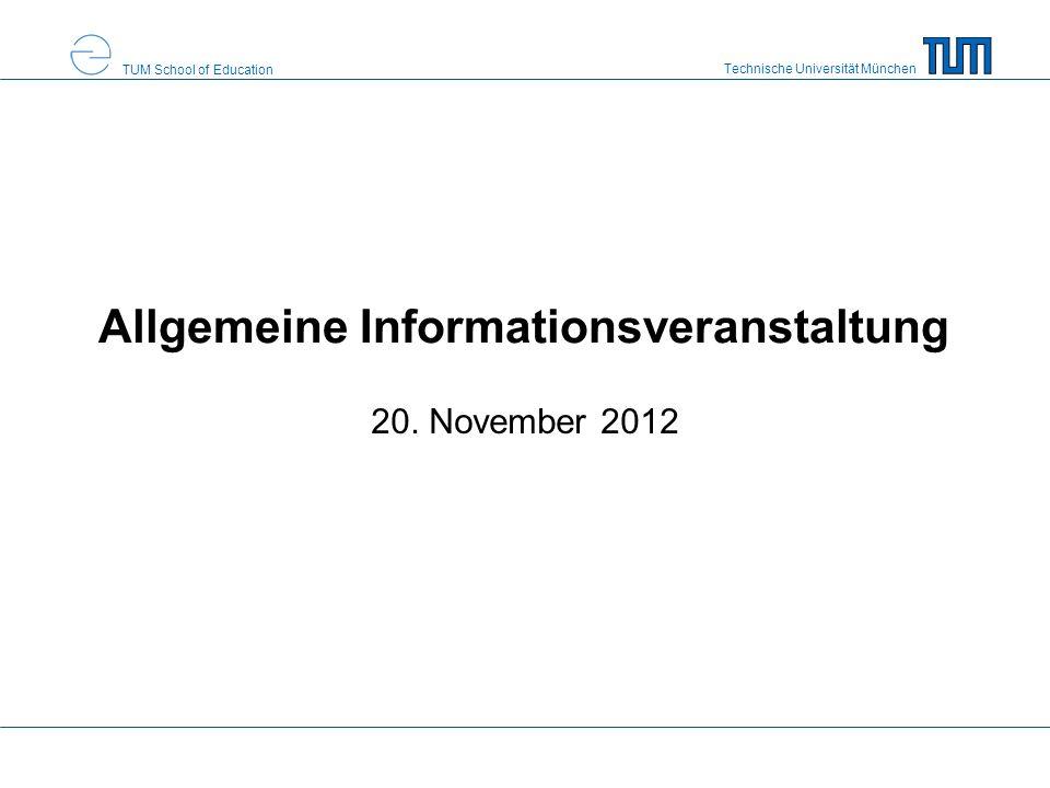 Allgemeine Informationsveranstaltung