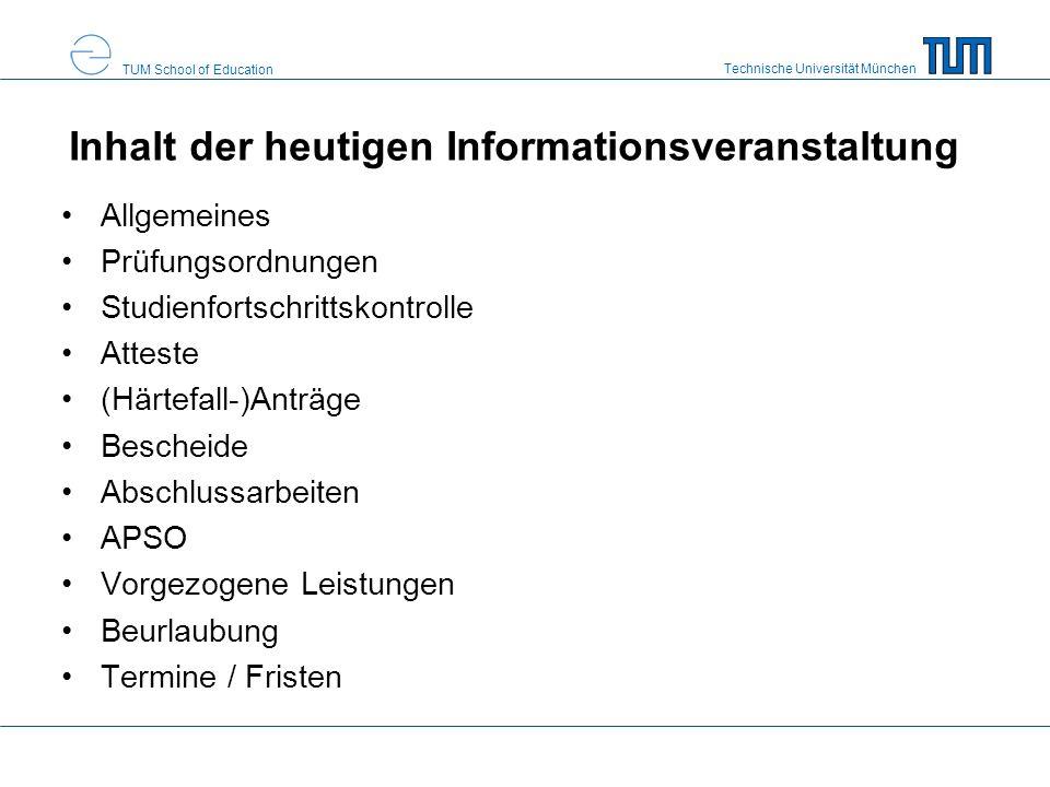 Inhalt der heutigen Informationsveranstaltung