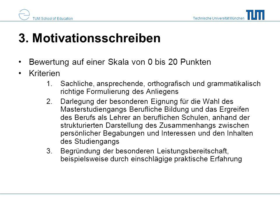 3. Motivationsschreiben