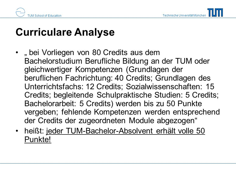 Curriculare Analyse