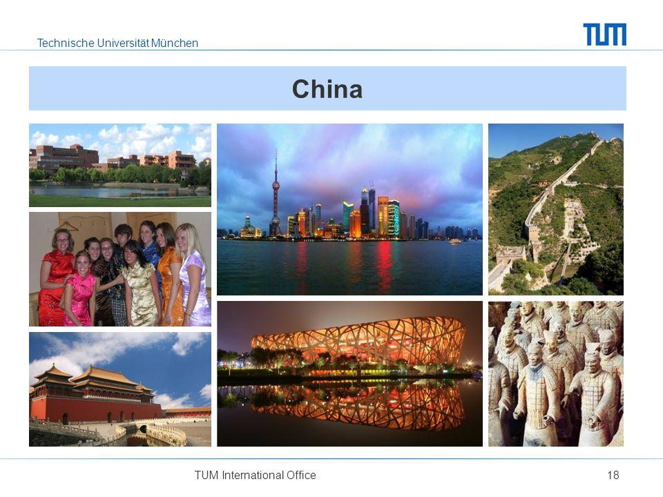 China Links: 1 Shanghai Jiaotong University; 2 Austauschstudenten in chinesischem Festkostüm; 3 Die Verbotene Stadt in Beijing.