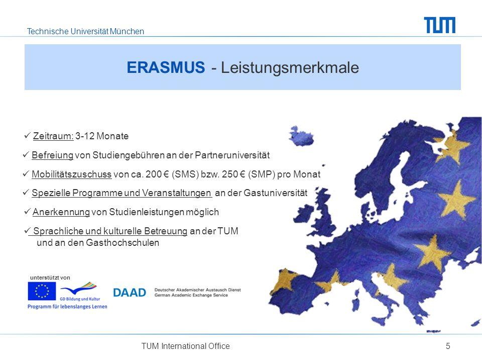 ERASMUS - Leistungsmerkmale
