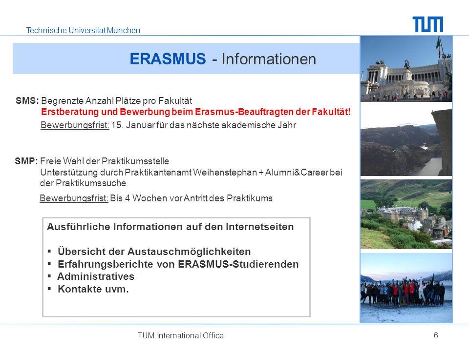 ERASMUS - Informationen
