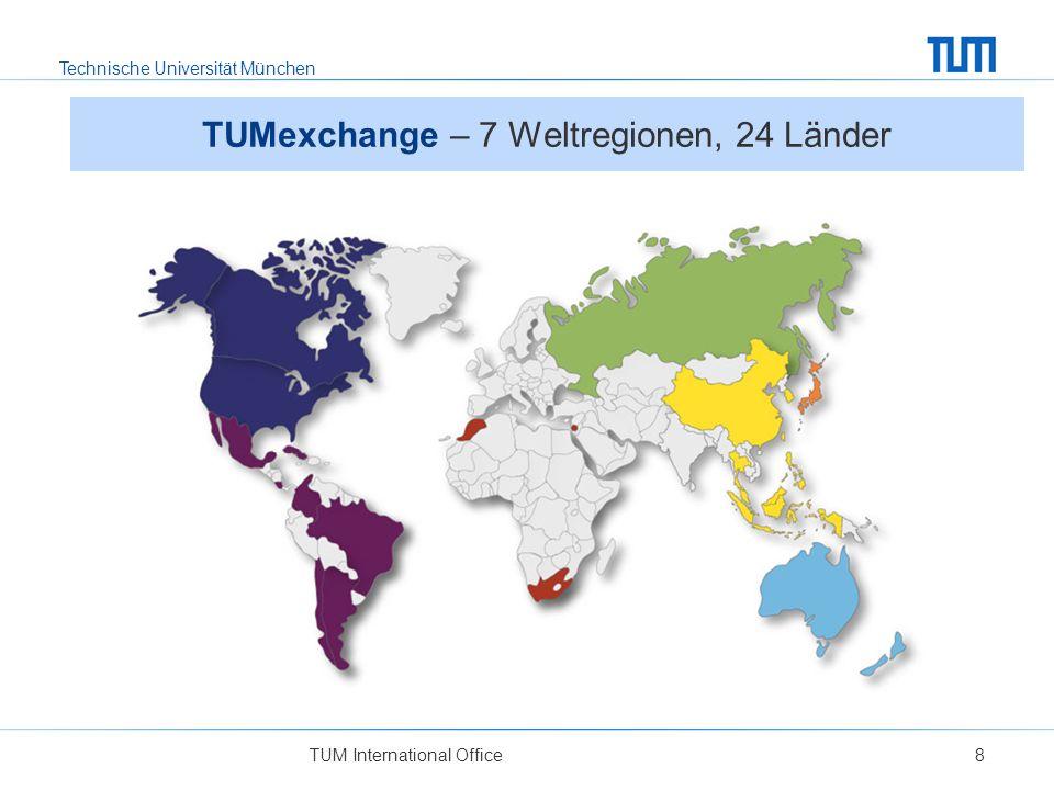 TUMexchange – 7 Weltregionen, 24 Länder