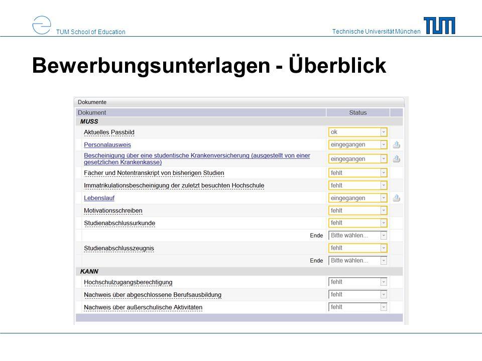 Bewerbungsunterlagen - Überblick