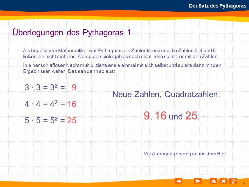 Überlegungen des Pythagoras 1