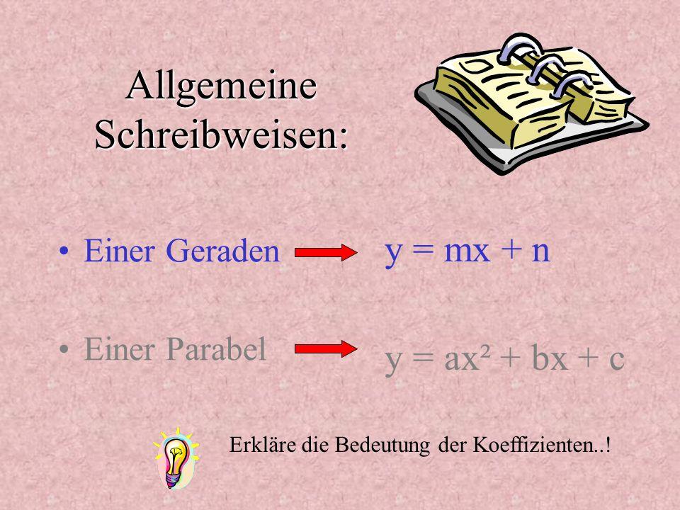 Allgemeine Schreibweisen: