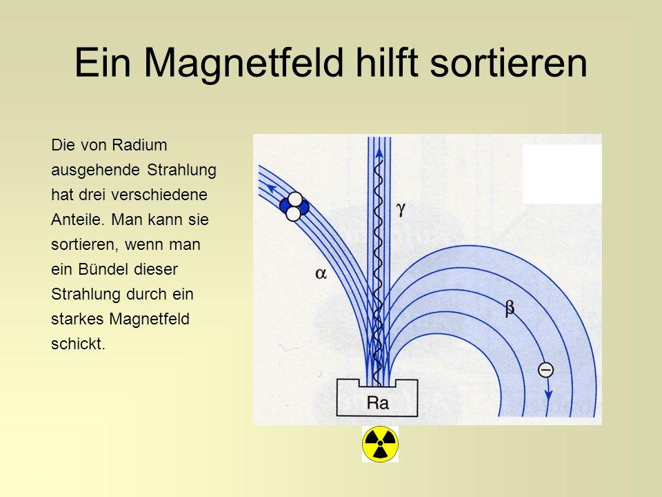 Ein Magnetfeld hilft sortieren