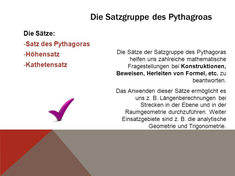 Die Satzgruppe des Pythagroas