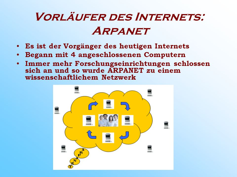 Vorläufer des Internets: Arpanet