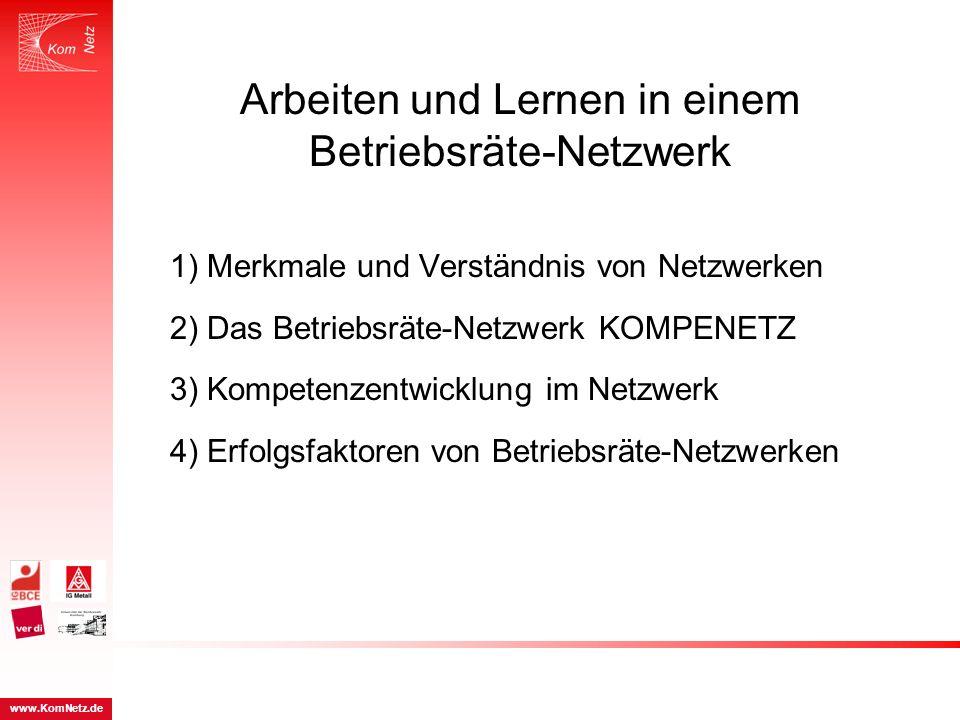 Arbeiten und Lernen in einem Betriebsräte-Netzwerk