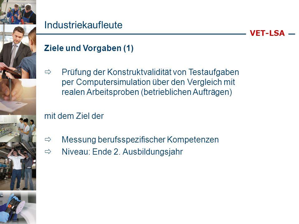 Industriekaufleute Ziele und Vorgaben (1)